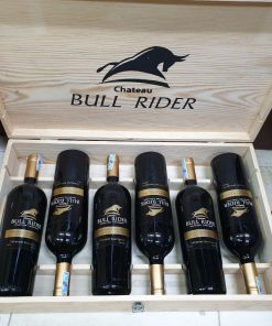 Hộp gỗ rượu vang Bull Rider